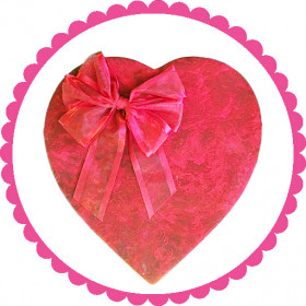 1 Pound Premium Heart Shaped Velvet Assorted Chocolate Box With Bow