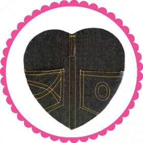 1 Pound Denim Assorted Chocolate Heart Box