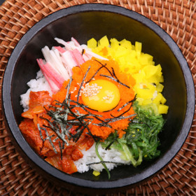 Rice Topped w/Vegetables & Fish Eggs(Masago)