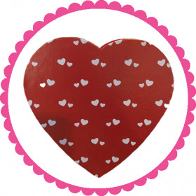 1/4 Pound Red And White Hearts Assorted Chocolate Heart Box