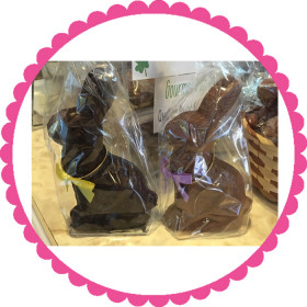 Medium Solid Chocolate Bunny