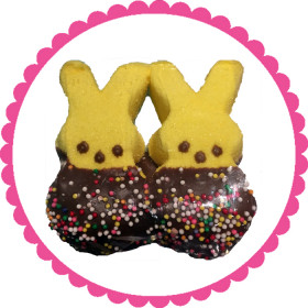 Chocolate Dipped Peep Bunnies