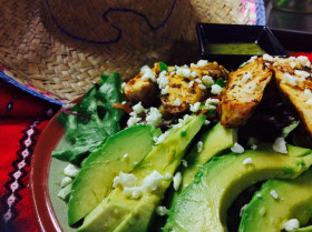 Grilled Adobo Chicken Salad