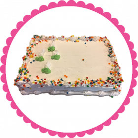 1/2 Sheet Traditional Ice Cream Cake
