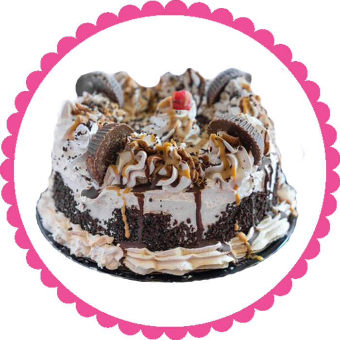 Peanut Butter Cup Ice Cream Cake