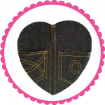 1 Pound Denim Assorted Chocolate Heart Box