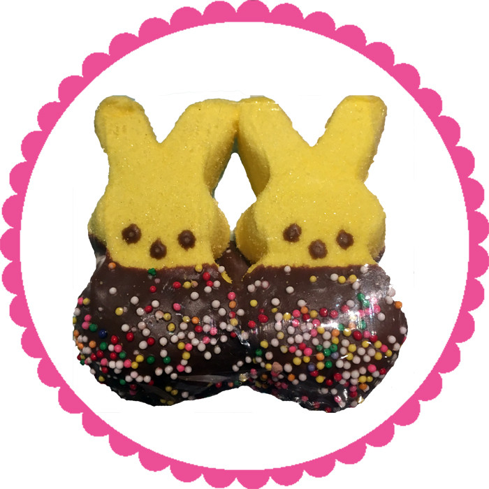 Chocolate Dipped Peep Bunnies