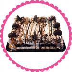 Peanut Butter Cup Quarter Sheet Ice Cream Cake