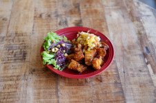 Crispy Pork Belly w/ Mango Salsa