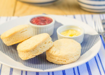 Hot Biscuits w/ Jam and Butter
