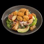 Crumbed Mushroom and Avocado Salad (3504kJ)
