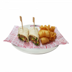 Avocado and Vegan Schnitzel Wrap (4560kJ)