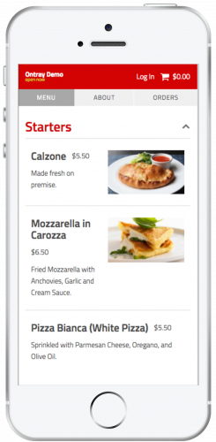 Ontray Updated Menu Design Mobile