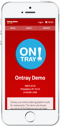 Ontray Updated Homepage Design Mobile